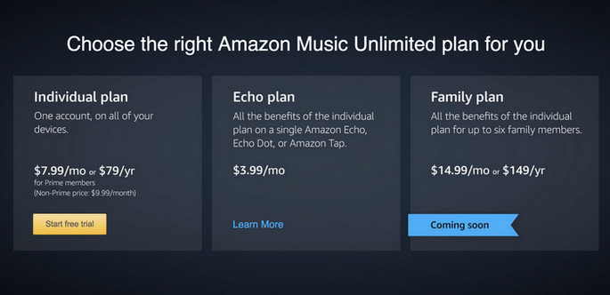 Amazon Music prices